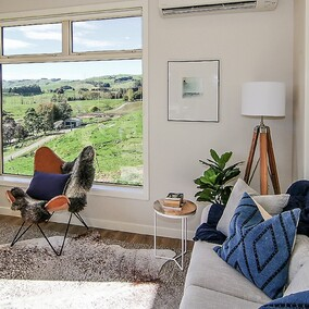 Luxury Air BnB Accommodation in Rural Waikato | complete home interior design